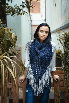 Oversized cowl in navy and cream Winter 2017, Fall Winter, Autumn, Limited Collection, Winter Collection, Alpaca Wool, Cowl, Unisex, Navy