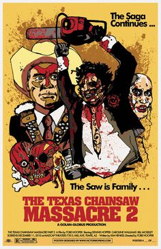 The Texas Chainsaw Massacre 2 (1986) fan poster