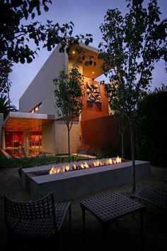 Image result for long fire pits