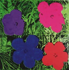 Flowers, c.1964 (1 purple, 1 blue, 1 pink, 1 red) Posters by Andy Warhol at AllPosters.com
