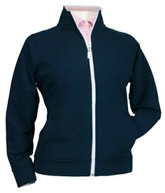 Women's Misty Full Zip Jacket from Bermuda Sands Apparel with Storm Cotton technology. Bermuda Sands, Womens Golf Shirts, Outerwear Women, Ladies Golf, Pullover, Zip, Hoodies, Lady, Track