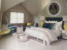 I love this teenage girl's bedroom! Teenage Girl Bedrooms, Big Girl Rooms, Bedroom Paint Colors, Room Colors, Dream Rooms, Dream Bedroom, Bedroom Sets, Girls Bedroom, Cool Beds For Teens
