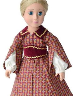 1850s Promenade Dress with Pagoda Sleeve Doll Clothes by CARPATINA