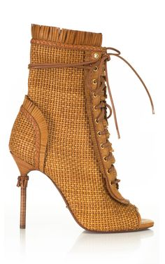 The MOST amazing #shoeoftheday @SergioRossi Kalhari Woven Bootie.  WANT!