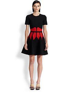 Alexander McQueen - Intarsia Knit Corset Dress