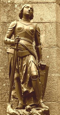 "Jeanne d'Arc ""Joan of Arc"" Joan D Arc, Saint Joan Of Arc, St Joan, Jeanne D'arc, Catholic Saints, Patron Saints, Ste Therese, Image Paris, Inspiration Drawing"
