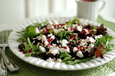 Gojee - Arugula, Watercress and Goat Cheese Salad with Blackberry Vinaigrette by Cafe Johnsonia