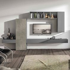 Grey Tv Unit Wall Unit My Italian Living