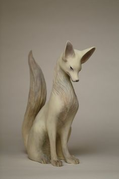Sculptures Céramiques, Art Sculpture, Ceramic Animals, Clay Animals, Art Fox, Paperclay, Art Store, Mythical Creatures, Oeuvre D'art