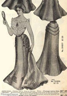 Edwardian Skirts History - 1900 - 1910s