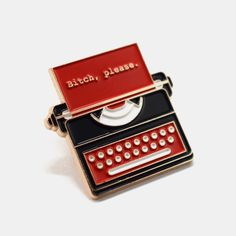 Very friendly typewriter for sale! Soft enamel pin with gold outline, backing and rubber clutch. Cool Patches, Pin And Patches, Typewriter For Sale, Jacket Pins, Vintage Typewriters, Cool Pins, Vintage Pins, Pin Badges, Lapel Pins