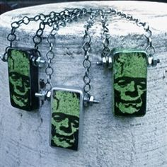 domino jewelry ~ frankensteins monster