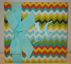 Multi Colored Chevron Album by doodlebugsga on Etsy Purchase at www.doodlebugsga.etsy.com