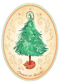 Christmas tree and cat illustration made by Brittney Lee - Dessin chat et sapin de Noël Illustration Noel, Christmas Illustration, Illustrations, Noel Christmas, Christmas Crafts, Xmas Cards, Holiday Cards, Greeting Cards, Brittney Lee