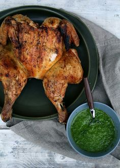 Grilled Chicken with ruccula pesto