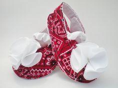 Bandana Pattern Baby Sandals on Etsy, $15.00