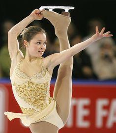 Sasha Cohen -Gold/Natural-hued Figure Skating / Ice Skating dress inspiration for Sk8 Gr8 Designs.
