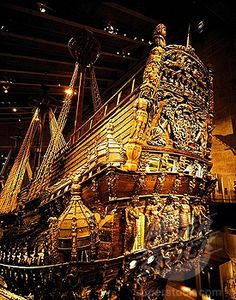 Warship Vasa built in Vasa Museum, Stockholm, Sweden Vasa Museum, Places To Travel, Places To See, Voyage Suede, Baltic Cruise, Old Sailing Ships, Sweden Travel, Maritime Museum, Stockholm Sweden