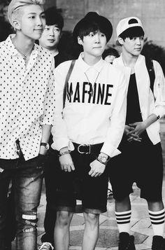 Bangtan Boys ❤ Namjoon (rapmon), Yoongi (suga) & Jimin   tumblr