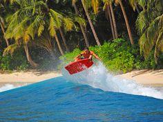 Turbo Stoog Bodyboard flying high.