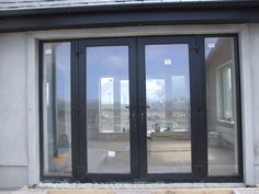 French exterior Door black color