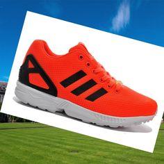 008e190b7b0 Adidas Originals Zx Flux Women's Running Shoes Dark-Orange/Black/White.  Adidas