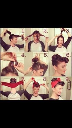 How to pinup hair