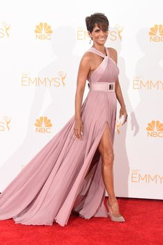 Halle Berry wears ELIE SAAB Ready-to-Wear Fall Winter 2014-15 to the 66th Annual Primetime Emmy Awards in L.A.
