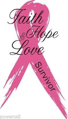 "Firefighter Sticker Pink Ribbon Faith Hope Love Survivor 4"" x 2 5"" Decal | eBay"