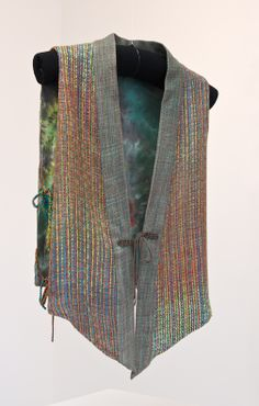 Summer Vest. Hand dyed, handwoven bamboo yarn. Hand dyed silk lining. All done by me.