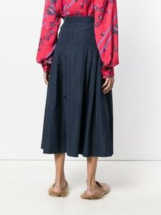Max Mara Studio gathered A-line midi skirt Skater Skirt, Midi Skirt, Max Mara, Flare Skirt, A Line Skirts, Studio, Pants, Shopping, Design