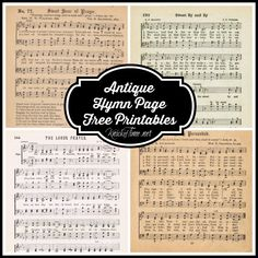 The Lord's Prayer - a FREE printable antique hymn book page from Knick of Time @ KnickofTime.net