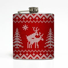 This Ugly Christmas Sweater Liquid Courage Flask™ makes a great holiday stocking stuffer!