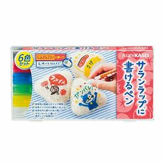 Saran Wrap ni Kakeru Pen 6pcs (red, blue, black, green, yellow, white) - pen specialized for writing over Saran Wrap. Describe the cooked date! Develop your bento decoration! Give a message to your family! Leave a message to refrigerator sneakers!
