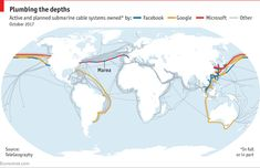 How Internet Works, Submarine Cable, Google Facebook, Fiber Optic, Microsoft, How To Plan, Classroom, Class Room
