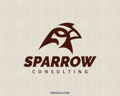 Animal logo with the shape of a sparrow head with dark red colors.( bird, animal, sparrow, pet, mascot, pet shop, consulting, Pet Care, investing, zoo,  logo for sale, logo design, logo, lototipo, logotype).