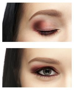 Pink makeup for hooded eyes