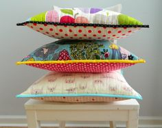 s.o.t.a.k handmade: {no patchwork} quilted pillows