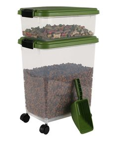 I have one of these -- and it is the perfect solution! Airtight Pet Food Container Combo on #zulily! #zulilyfinds