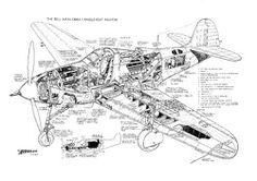 Bell Airacobra Cutaway Poster