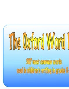The Oxford Word List Word Wall Pack - PDF file 90 most common words word wall, desk mat, poster and assessment pages. Wall Desk, Desk Mat, School Stuff, Back To School, Spelling Lists, Teaching Vocabulary, Year 2, Daily 5, Sight Words