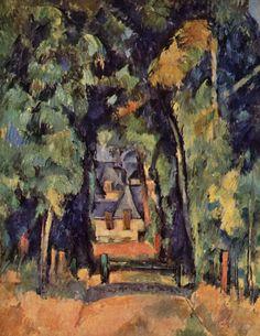 Paul Cézanne. Straße in Chantilly. 1888, Öl auf Leinwand, 81 × 65 cm. Washington (D.C.), Sammlung W. A. M. Burden. Landschaftsmalerei. Frankreich. Postimpressionismus. KO 01234