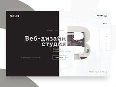 Concept website for Sitelab by Leonid Arestov #Design Popular #Dribbble #shots