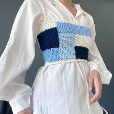 Crochet Crop Top, Crochet Cardigan, Knit Crochet, Crotchet, Diy Crochet Projects, Crochet Crafts, Crochet Clothes, Diy Clothes, Crochet Designs