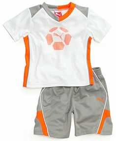 Baby Boy Clothes at Macy's come in a variety of styles and sizes. Shop Baby Boy Clothing and find the latest styles for your little one today. Kids Clothes Boys, Toddler Boy Outfits, Kids Outfits, Baby Boys, Toddler Boys, Mens Printed Shirts, Kids Uniforms, Puma Outfit, Kids Fashion Boy