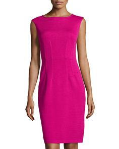 Cap-Sleeve Knit Sheath Dress, Cosmo by St. John at Neiman Marcus Last Call.