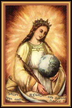 Nossa Senhora, Rainha e Senhora do Mundo, rogai por nós e pela humanidade inteira!