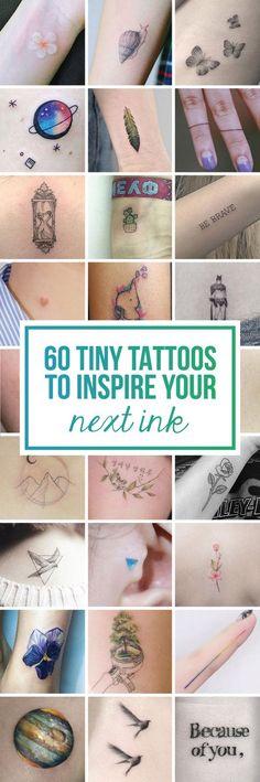 60 Tiny Tattoos To Inspire Your Next Ink - TattooBlend Mini Tattoos, Flower Tattoos, Body Art Tattoos, New Tattoos, Small Tattoos, Tatoos, Cute Tiny Tattoos, Henna Tattoos, Samoan Tattoo