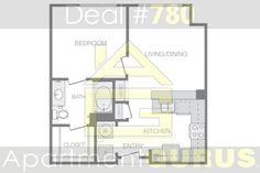 Beds -1 Bath -1  Sq. Ft. 628  Starting Price $1,574