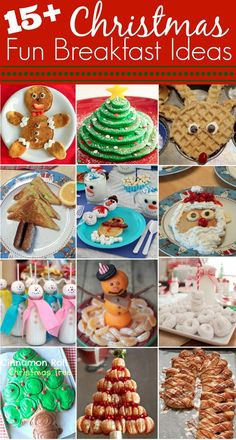 over 15 creative and fun breakfastbrunch ideas to make with your kids and family christmas break will be a good time to try these out